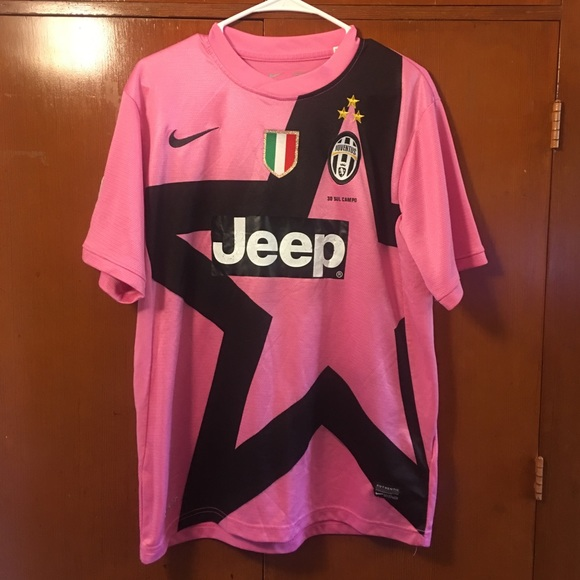 check out 31427 718a6 Nike Authentic Juventus Jersey Large pink Jeep
